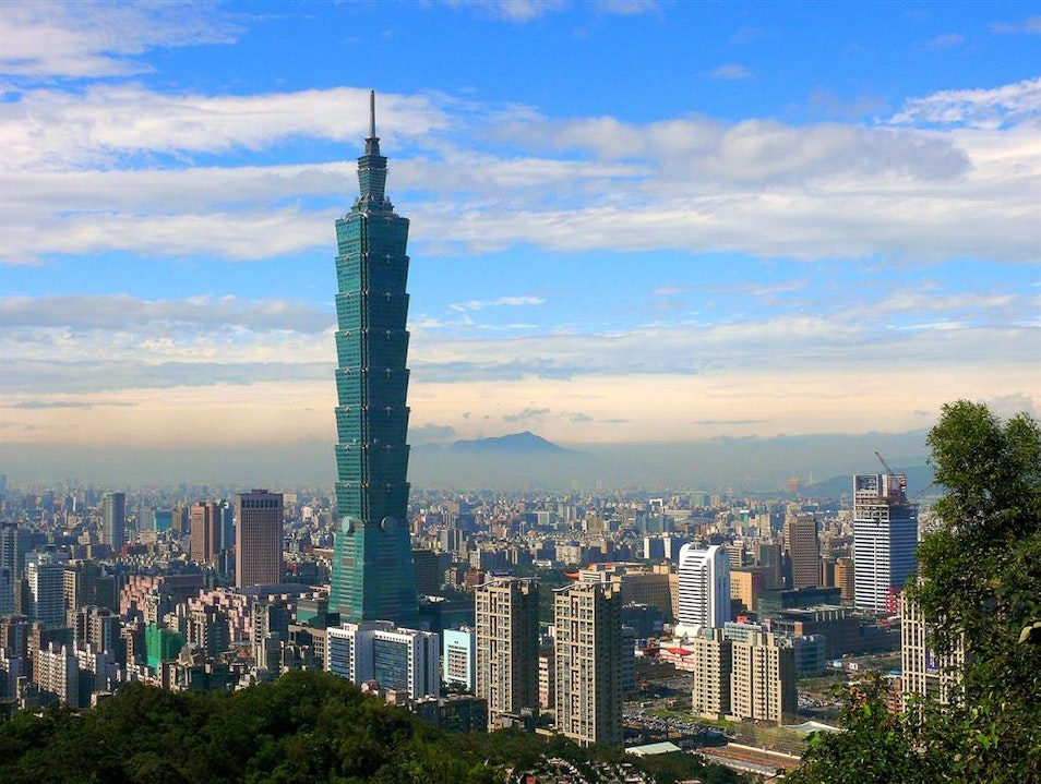 View from the Top of the World Taipei  Taiwan