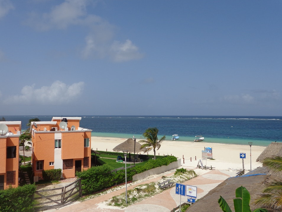 View from the Ojo de Agua hotel in Puerto Morelos, Learning Afar Quintana Roo  Mexico