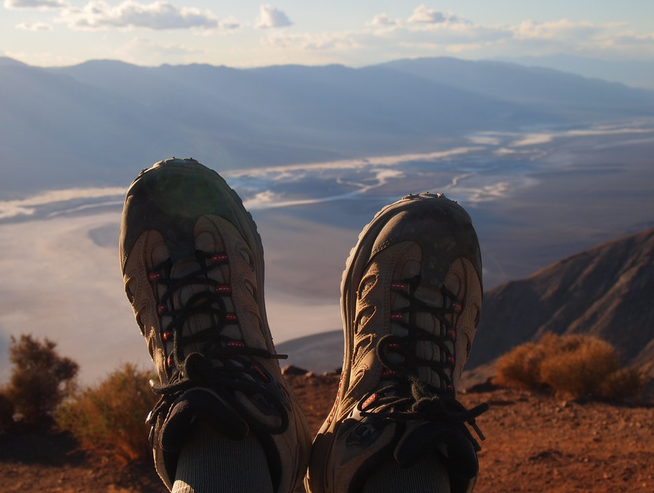 Kicking Back over Death Valley DEATH VALLEY California United States