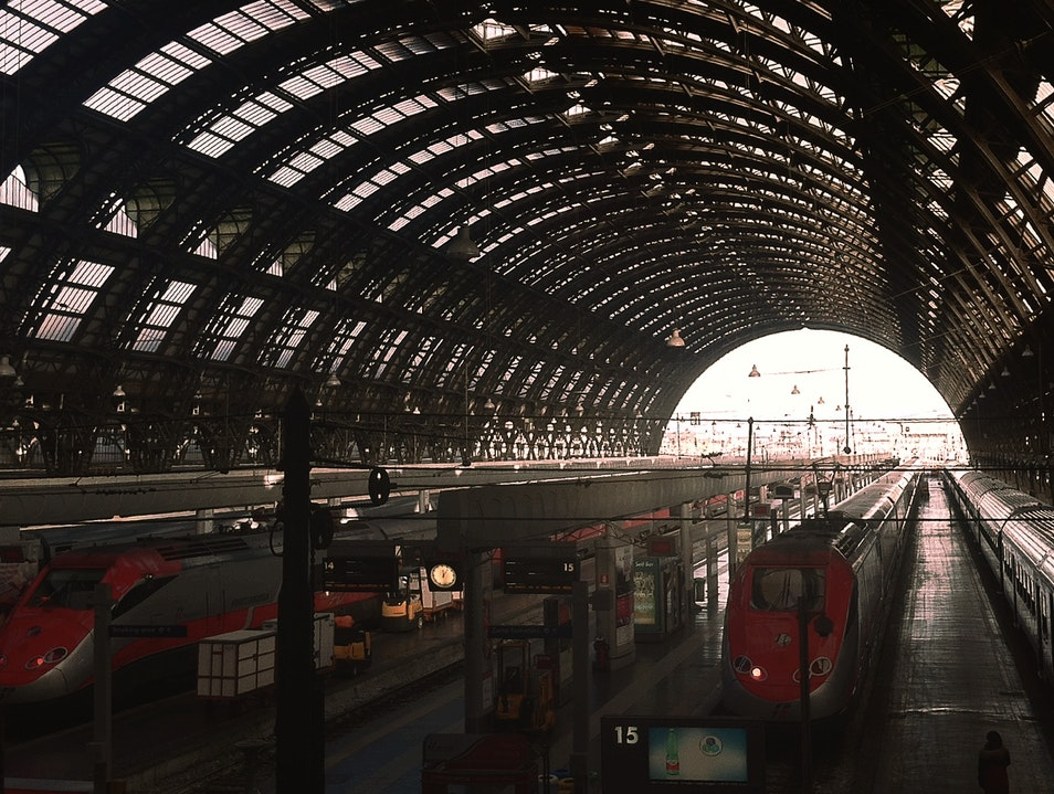Hang Out at the Train Station Milan  Italy