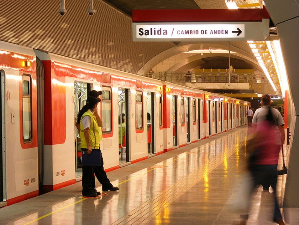 Travel Across Town on the Clean, Fast Metro Santiago  Chile