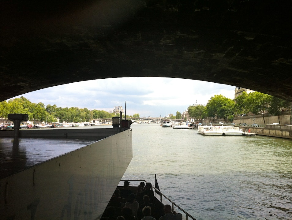 On the Seine in Sunny Paris Guerville  France