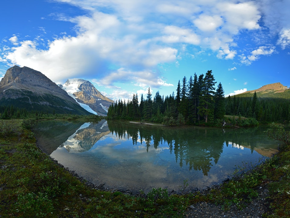 Backpacking in Mount Robson Provincial Park