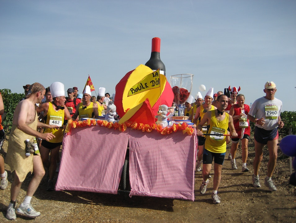 A marathon for drinkers with a running problem Pauillac  France