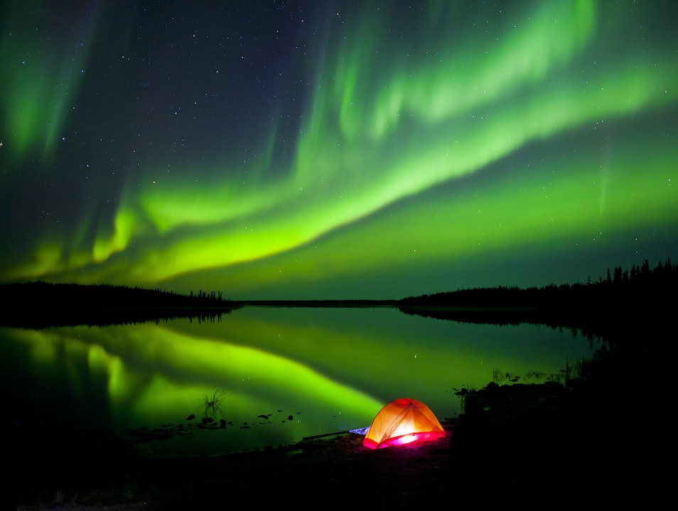 Summer Spectacle in the Northwest Territories Yellowknife  Canada