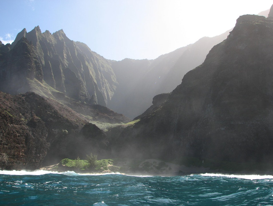 Cliffs of Na Pali Coast, Kauai  Hawaii United States