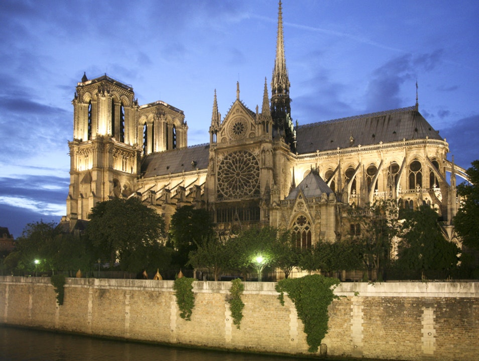 Notre Dame at Night   France