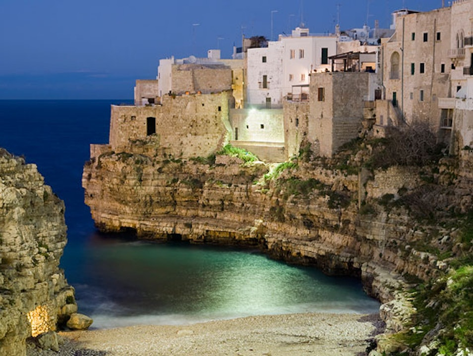 Where cobblestones meet seashells. Polignano A Mare  Italy
