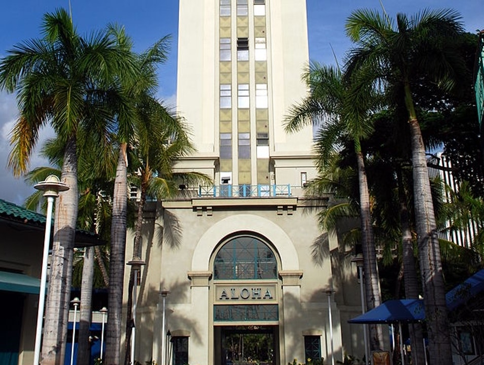 Art Deco in Town Honolulu Hawaii United States