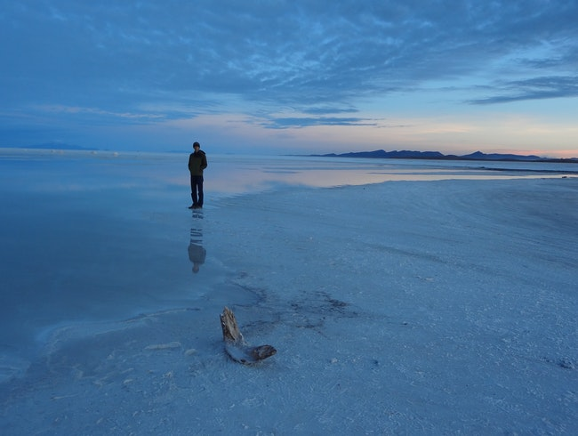 Sunrise Walk on the Salar