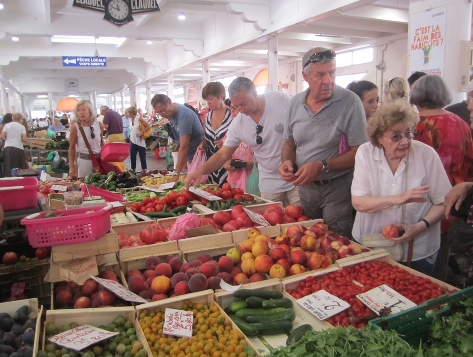A Bountiful Harvest at a French Farmer's Market Cannes  France