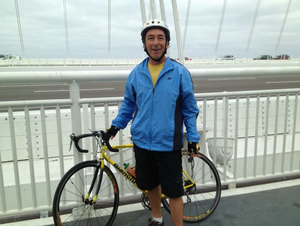 Cycling The New East Bay Landmark The Bay Bridge San Francisco California United States