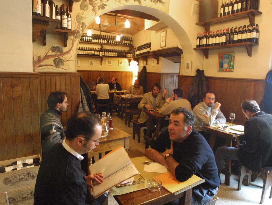 Wine bar near the old city gate Florence  Italy