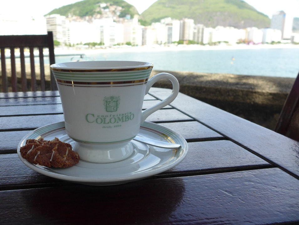 Sunday brunch at the Confeitaria Colombo in the Forte Copacabana Rio  Brazil