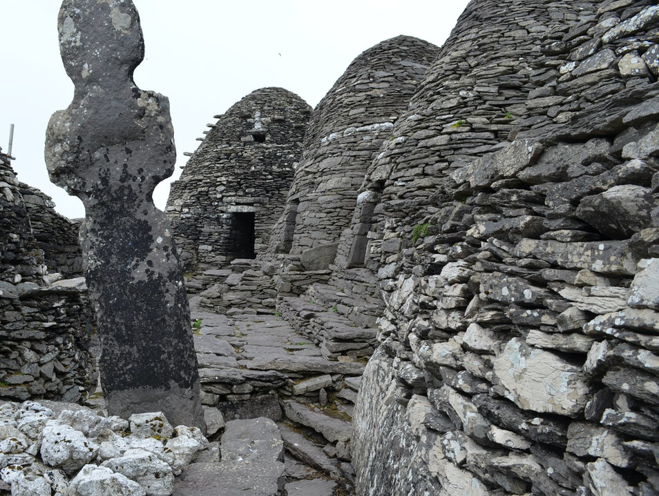 Beehive Huts on the Summit of Skellig Michael Kerry  Ireland