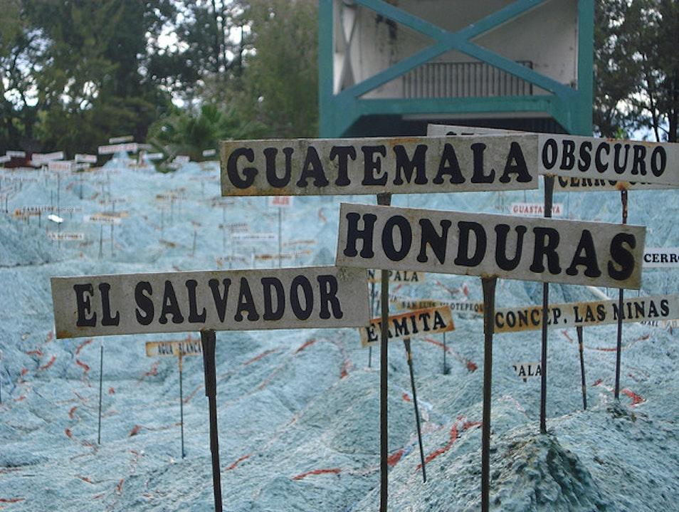 See the Whole Country at the Mapa en Relieve Guatemala City  Guatemala