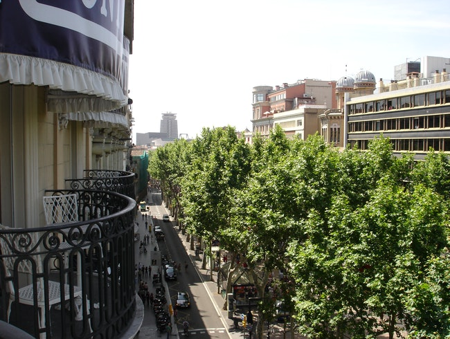 Room with a Balcony View at Hotel Continental Barcelona