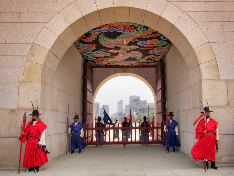Gate, Guards, and Phoenixes Seoul  South Korea