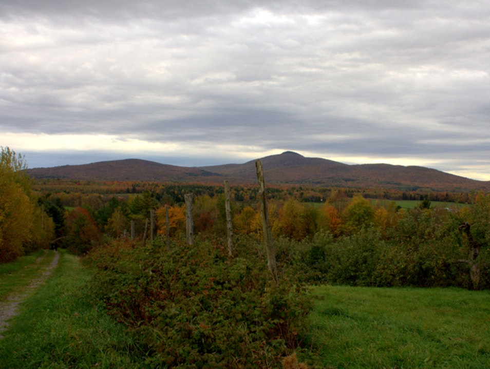Hiking in the Eastern Townships Dunham  Canada