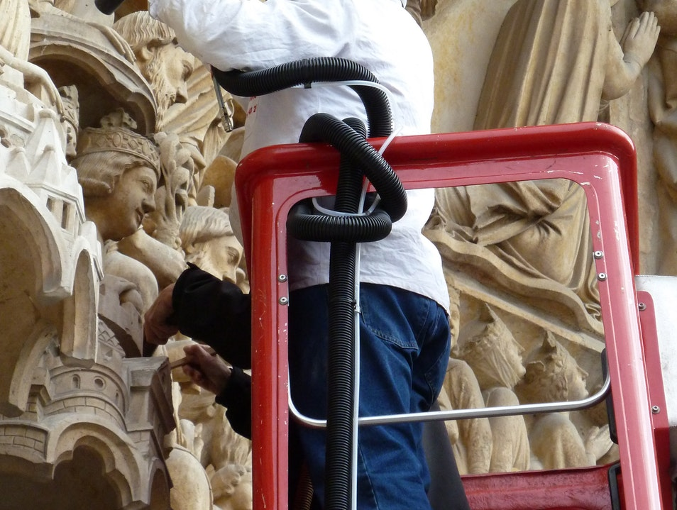 Cleanliness is Next to Godliness at Notre Dame   France