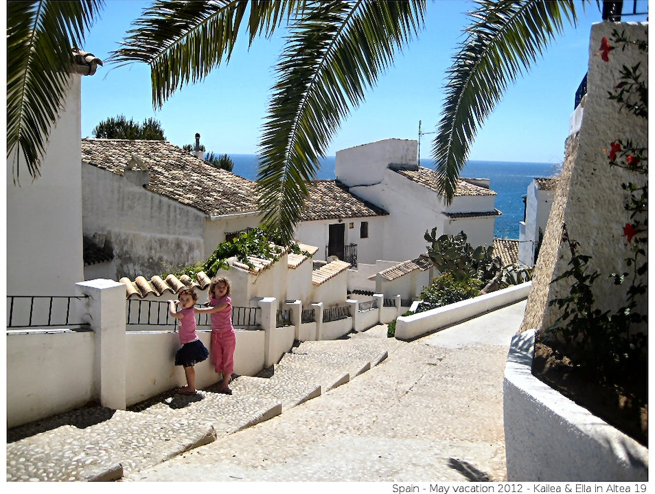 Walking the steps in beautiful Altea, Spain Altea  Spain