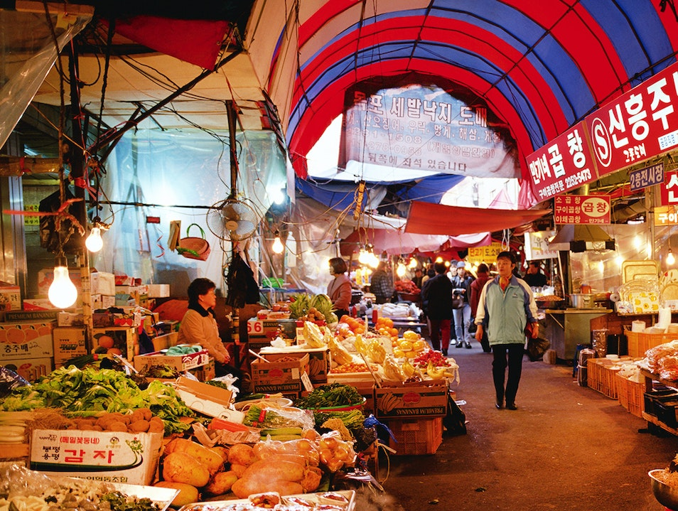 Dongmun Market Cheju  South Korea
