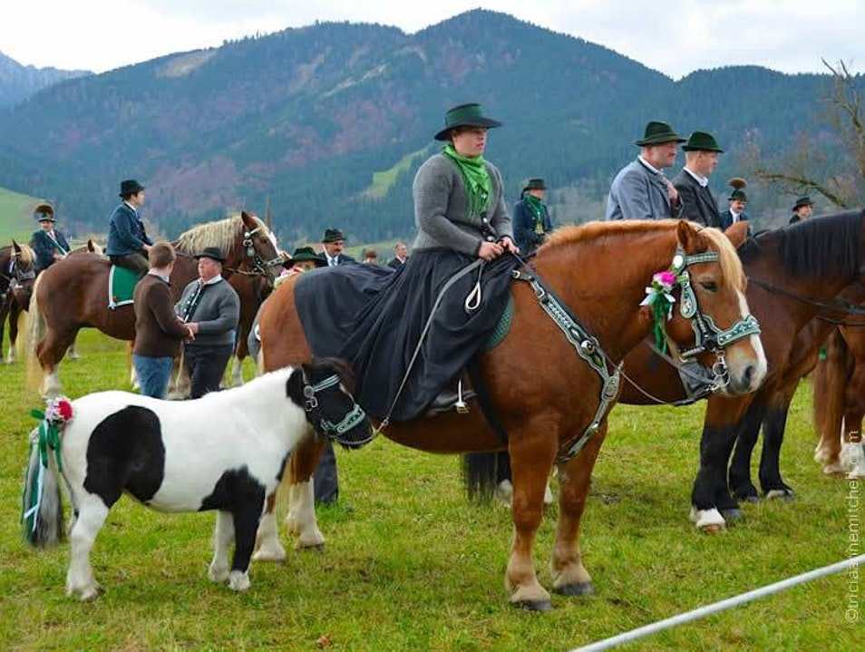 Attend a Bavarian Horse-Blessing Unterammergau  Germany