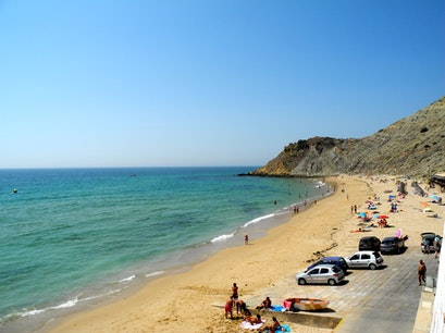 Beach Burgau  Portugal