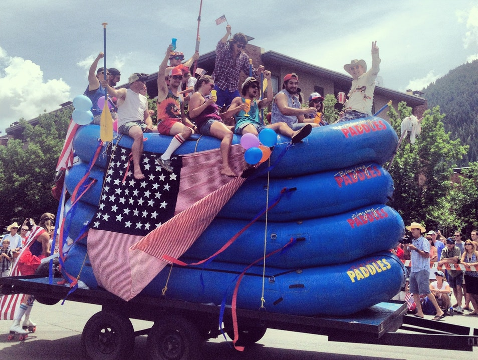 Rafting Down Main Street for July 4 Aspen Colorado United States
