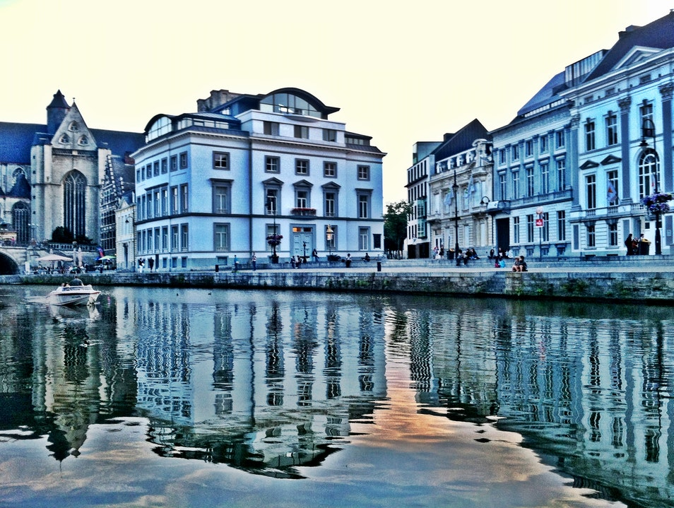 Reflections off a Ghent Canal