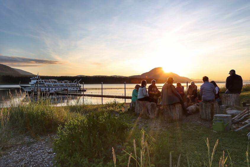 All Alaskan Dream Cruises feature an evening at Orca Point Lodge, complete with a campfire and beach access.