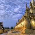 Phra That Luang Temple Vientiane  Laos