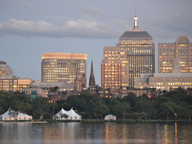 Boston's Skyline at Sunset