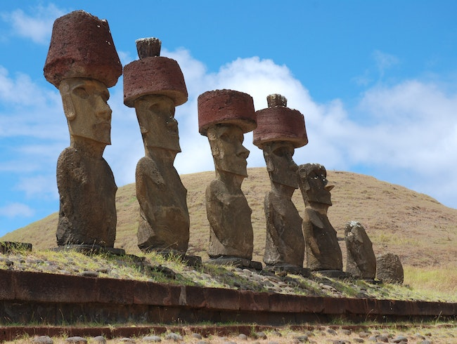 Moai with Hats