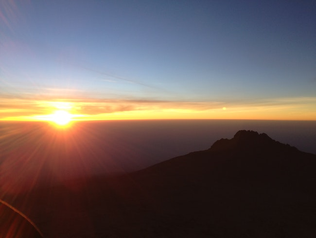 Sunset from Mt Kilimanjaro ridge