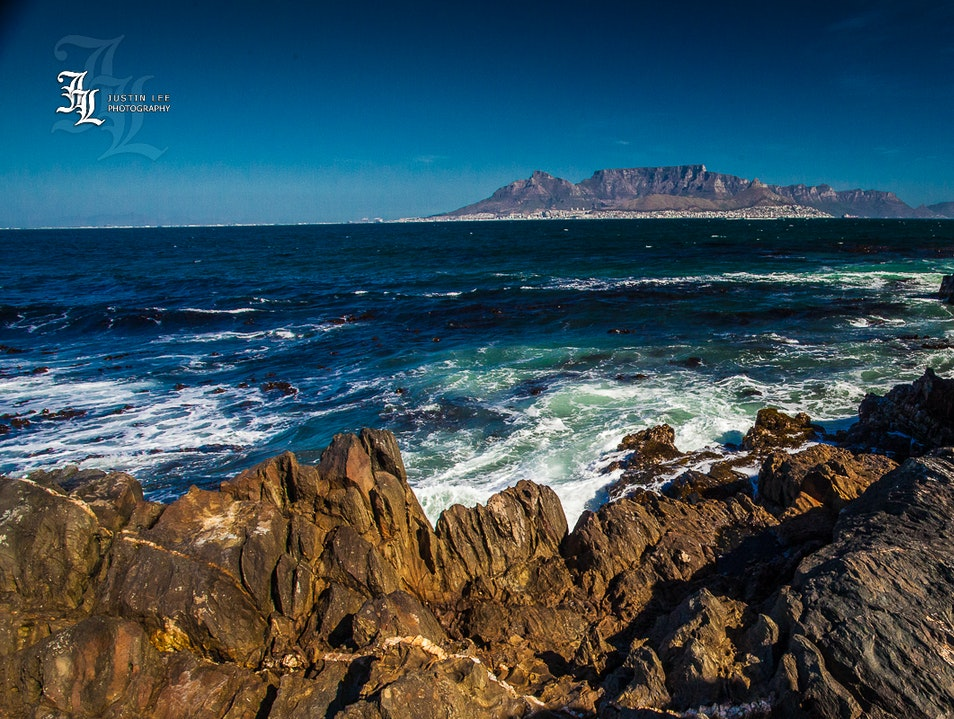 Table Mountain As Seen From Robben Island Cape Town  South Africa