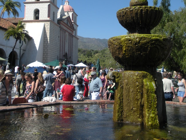 Santa Barbara Mission and historic park