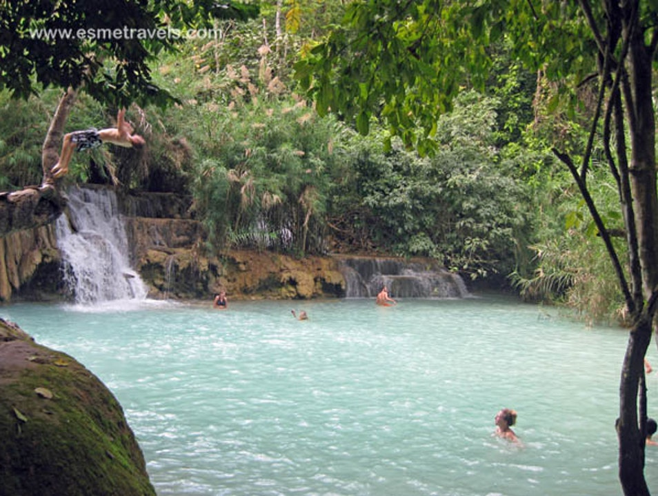 Playing at Kuang Si Falls