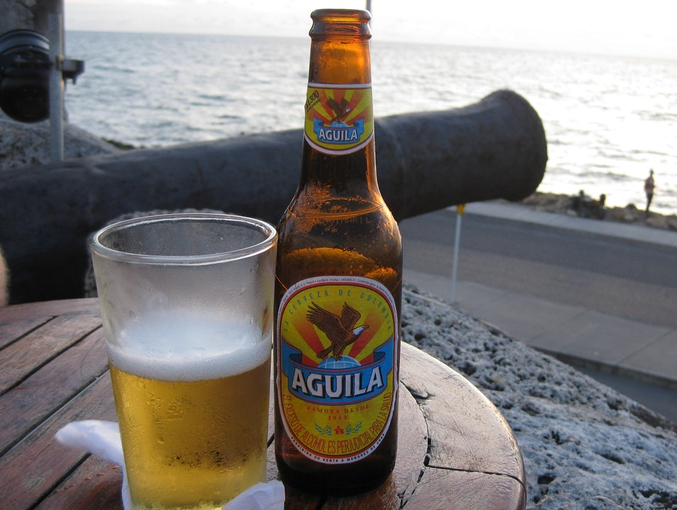 Sunset, a cold drink, and history Cartagena  Colombia