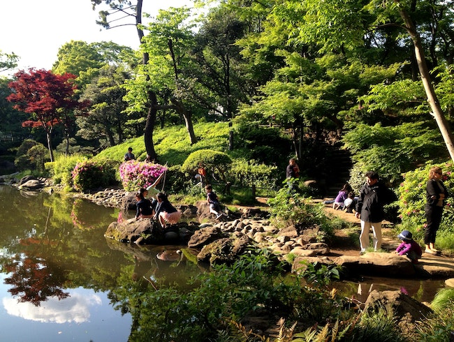 Escape the fast pace of Tokyo at Arisugawa