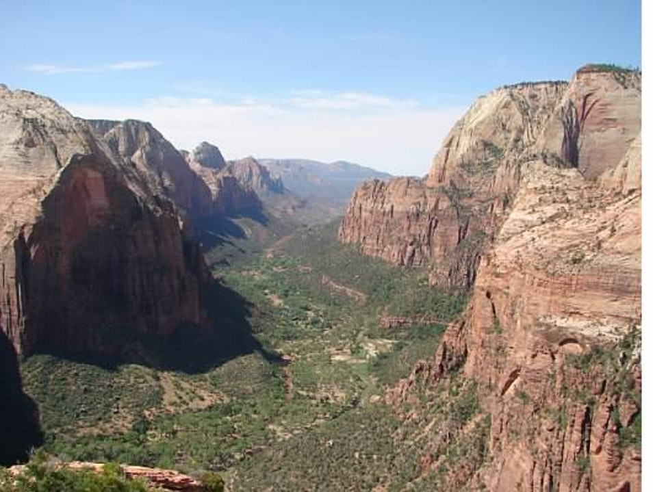 Top of Angels Landing Kanab Utah United States