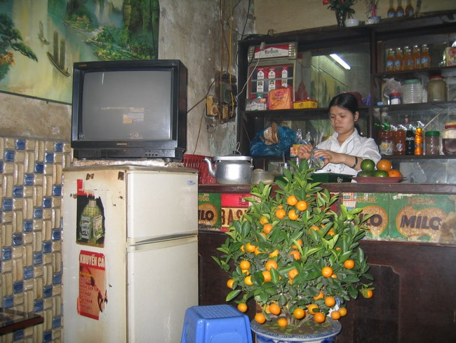 A local cafe while in Hanoi