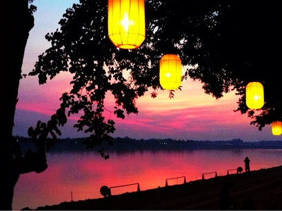 Kong View Bar & Restaurant Vientiane  Laos