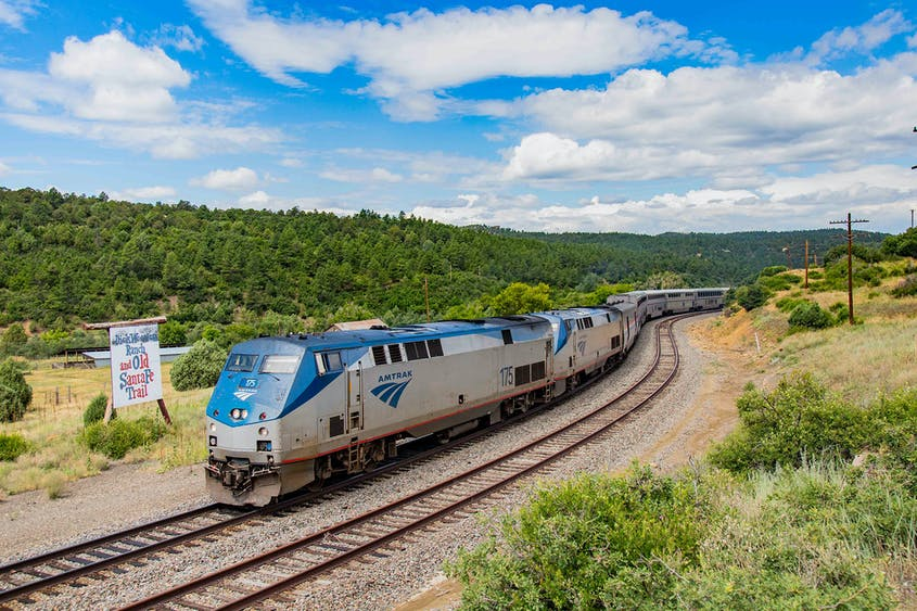 The Southwest Chief passes through New Mexico along its route.