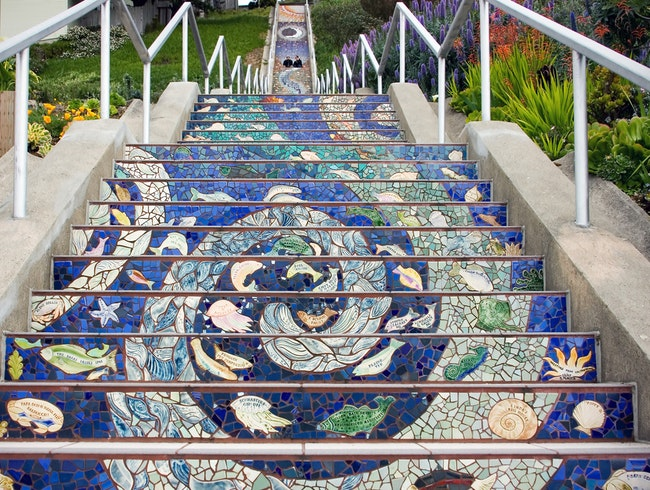 Climb up 16th Avenue's Tiled Steps