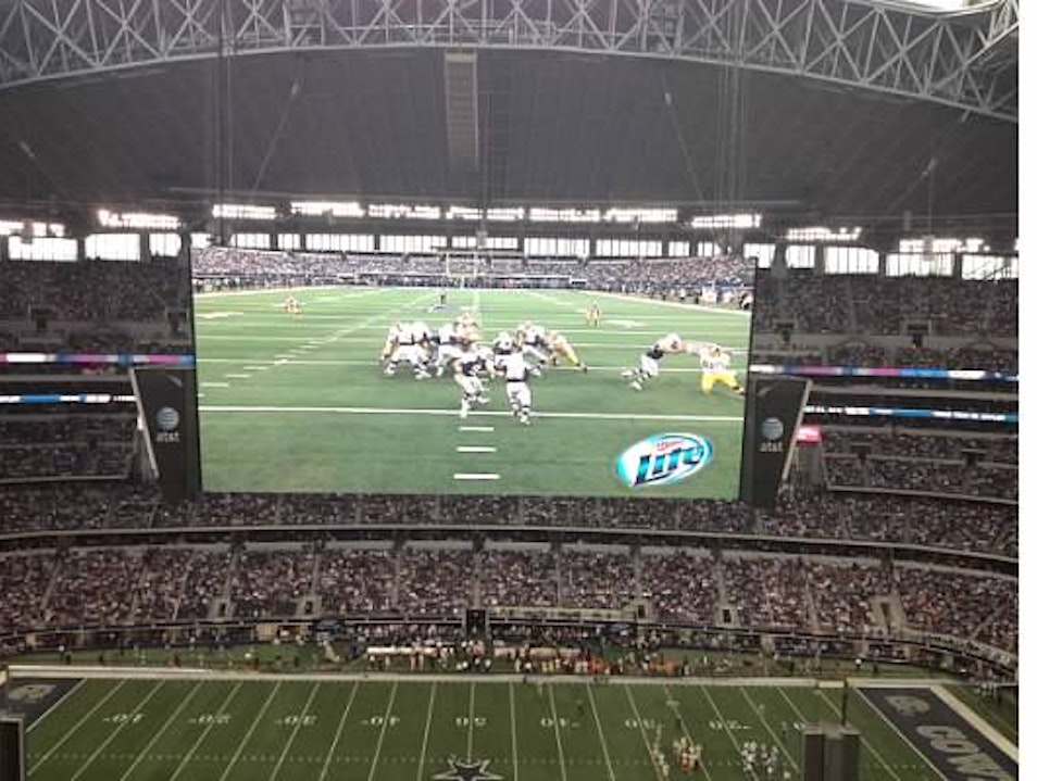 The largest television in the world! Arlington Texas United States