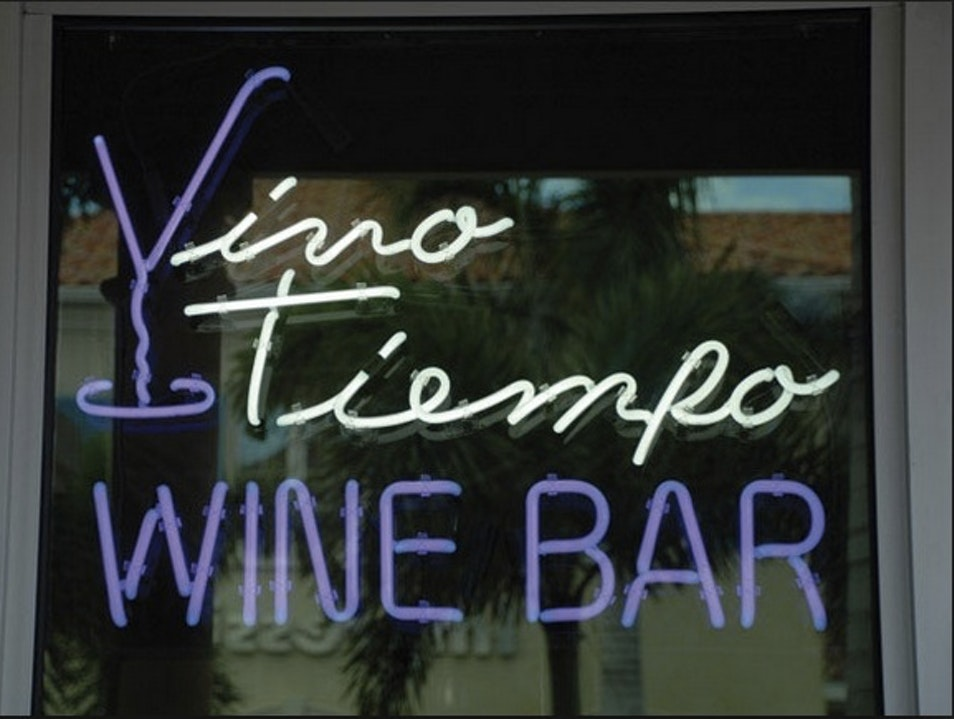 Cheers to New Friends at Vino Tiempo