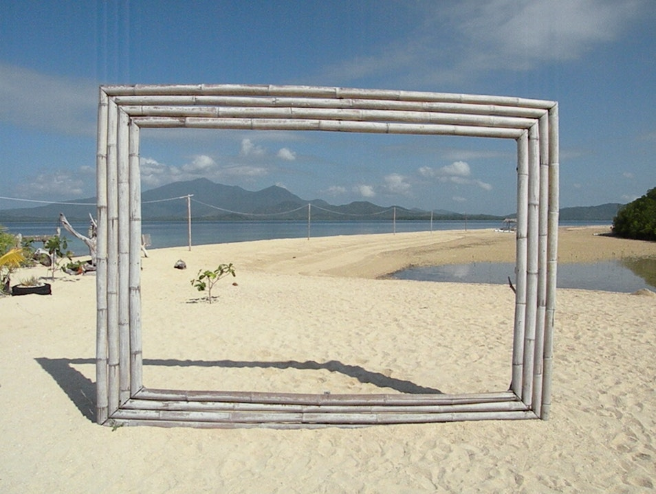Framed island-sea-view Puerto Princesa  Philippines