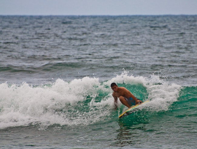 Surfing and Boogie Boarding