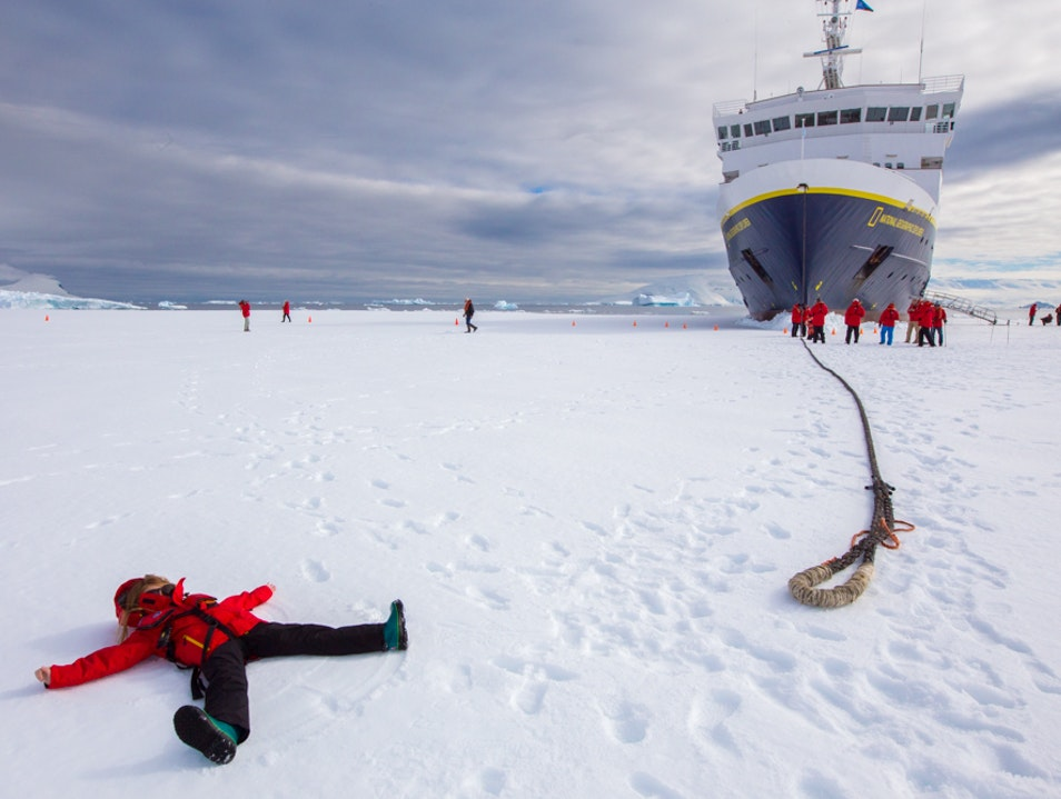 Snow angels in Antarctica   Antarctica